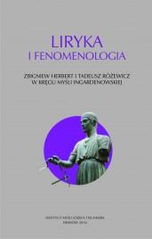 Okładka książki Liryka i fenomenologia